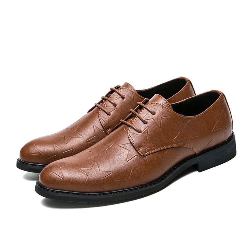 FuweiEncore 2018 Männer Jugend Jugend Jugend Trend Oxfords Schuhe, Outdoor-Freizeit Stil Schnürsenkel Solid Farbe Schuhe (Farbe   Braun, Größe   41 EU) (Farbe   Braun, Größe   39 EU) 116e36
