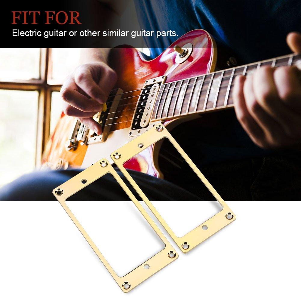 Metal Guitarra Humbucker Soporte de Marco Puente Pickup Anillos de Montaje para Guitarras El/éctricas Negro