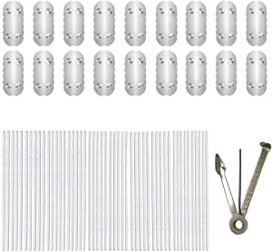Whzleader 18 Screen Parts Accessories Replacement and 50 PCS Pipe Cleaners for Pa-x 2 and Pa-x 3