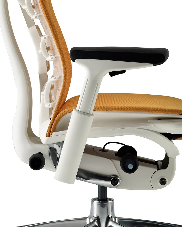 Amazon Com Herman Miller Embody Chair Fully Adj Arms White Frame Titanium Base Standard Carpet Casters Kitchen Dining
