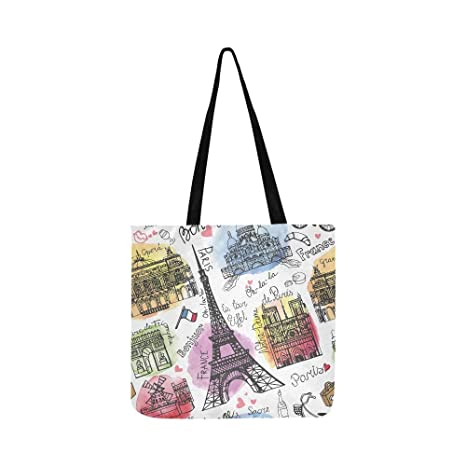 París Landmark Torre Eiffel Arco de Triunfo Lienzo Bolso ...