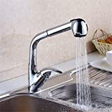 LHbox Tap Sprayer Spout Kitchen Faucet Pull-Down Faucet sandblasting Paint can Rotate Laundry