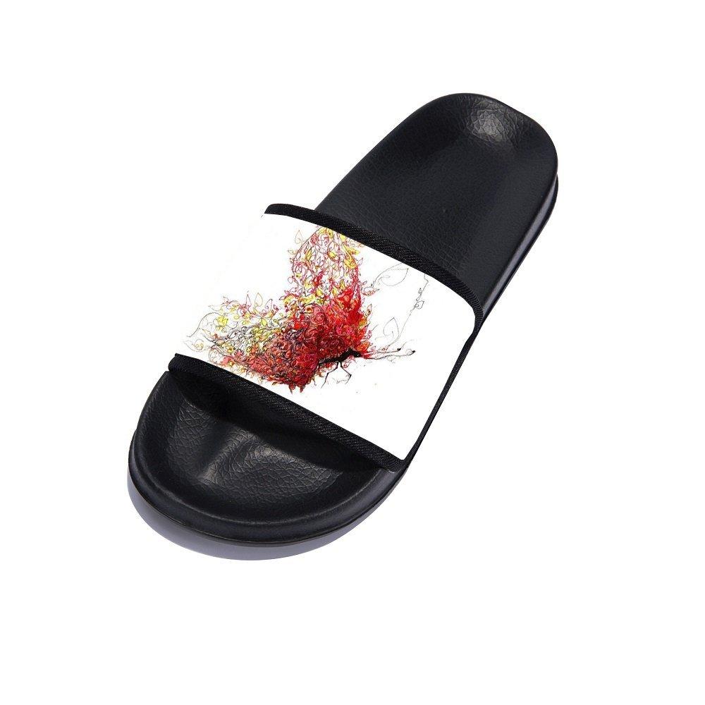 Eric Carl Men Anti-Slip Shower Sandals Couple Use Beach Pool Bathroom Gym Household Slippers Black