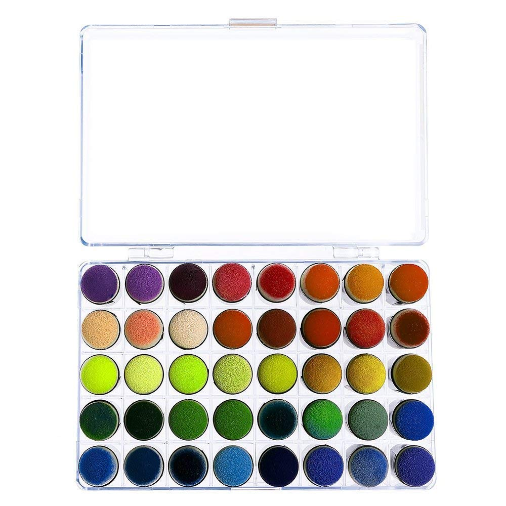 WithHealth Finger Sponge Dauber Storage Box for Painting Ink Crafts Dies Chalk Card Making Pack of 40