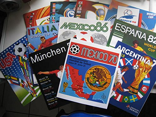 Collection of 11 PANINI World Cup 1970 - 2010 ALBUMS PLAYERS IMAGES PRINTED FIFA NEW