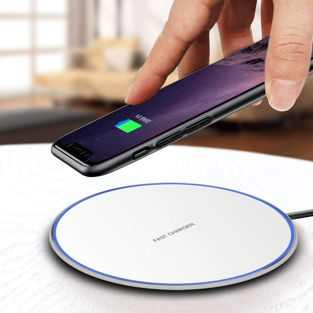 10W Smart QI Wireless Fast Charger Metal Desktop Phone Fast Charge
