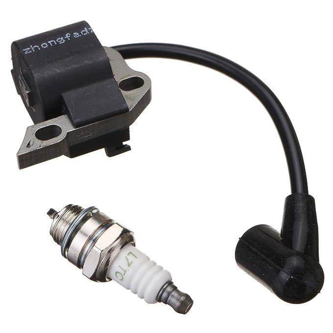 GOZAR Bobina De Ignición Cables WT Y Bujía Aptos para Stihl 017 018 Ms170 Ms180 Motosierra: Amazon.es: Hogar