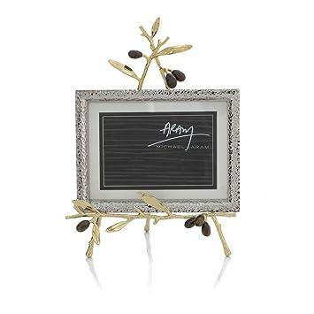 michael aram olive branch gold convertible easel frame