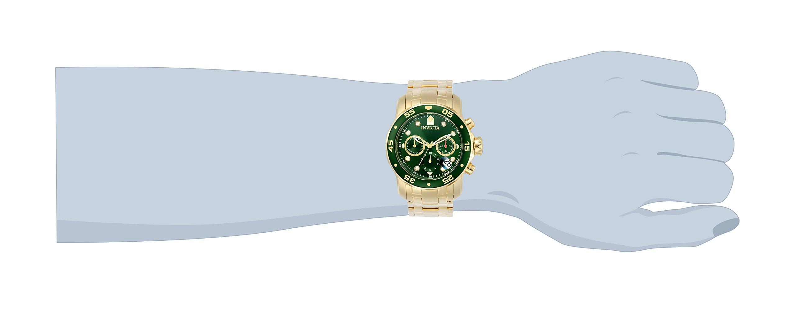 Invicta Men's 0075 Pro Diver Chronograph 18k Gold-Plated Watch by Invicta (Image #3)
