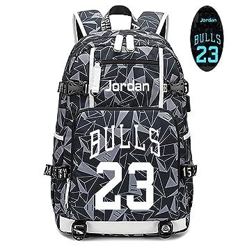 Lorhs store Jugador de Baloncesto Michael Jordan Mochila Luminosa ...