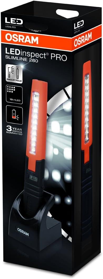 Rechargeable lampe d/'inspection OSRAM LEDinspect PRO SLIMLINE 280 1 pi/èce LEDIL103 Etui carton ferm/é