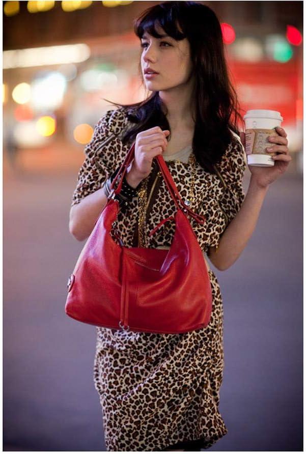 No_brand Bolso De Mujer, 100% Cuero Genuino Estilo OL Bolso De Mano para Mujer Moda Dama Bolsos De Hombro Bolso Clásico Satchel Crossbody Messenger Purse | Bolso Ladies Blue