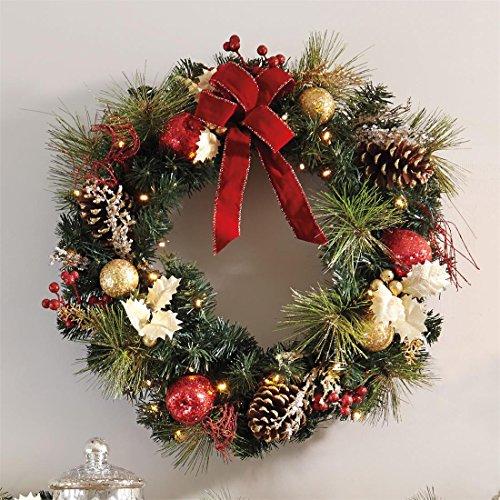 Brylanehome Cordless Led Wreath (Green,0)