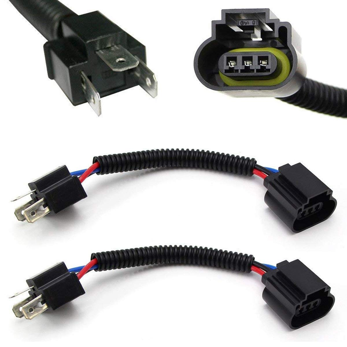 iJDMTOY (2) H4 9003 to H13 9008 Pigtail Wire Wiring Harness Adapters on h13 hid wiring, dodge oem parts diagram, project diagram, h13 bulb wiring, h13 connector diagram,
