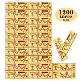 HORNET 1200 Leaves Organic 1 1/4 Size Slim Cigarette Rolling Papers Natural Hemp Papers-24 packs of 50 leaves (78mm)