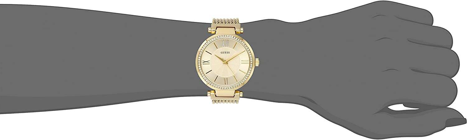 GUESS Women's Stainless Steel Casual Watch Gold Tone
