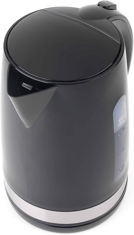 1.7 L 3000 W Progress EK2898P-VDE Deco Kettle with European Plug Black // Stainless Steel