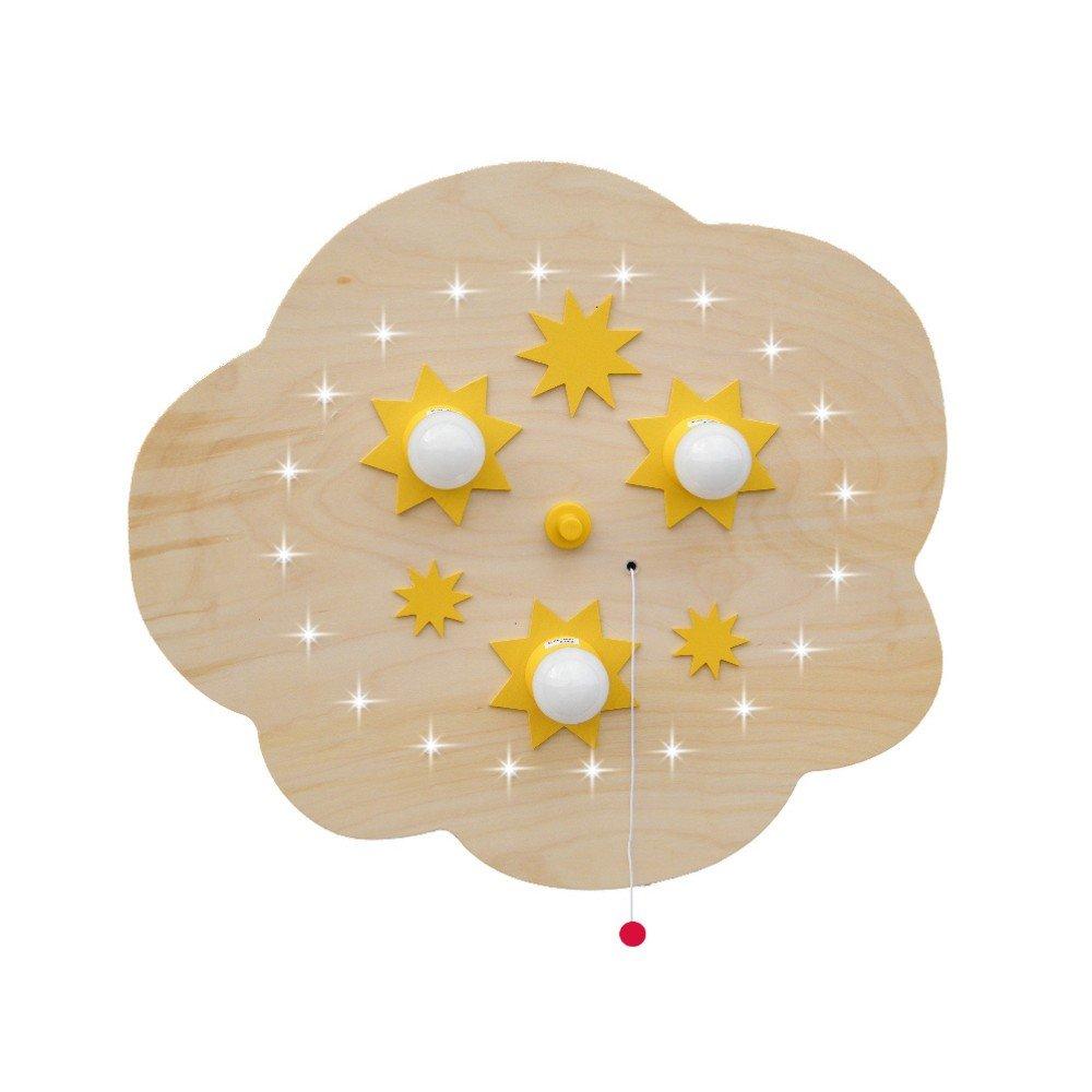 Elobra Deckenleuchte Sternenwolke LED 3/20 Buche, Beige, Holz, 125618