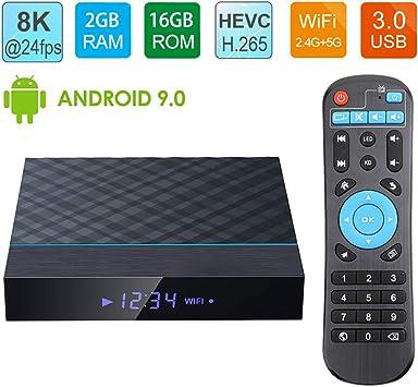 LAYZYX TV Androide 9,0 Caja, 3D Y 4K 8K 24 4 GB De RAM 64