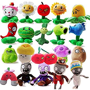 OliaDesign Plants vs. Zombies Plush Toy Set (20 Piece), Small (Lot