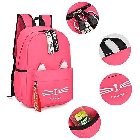 Amazon.com: Upupo Women Girls Cute Canvas Cat Print School Backpack, Shoulder Book Bags Rucksack (Purple): Sports & Outdoors