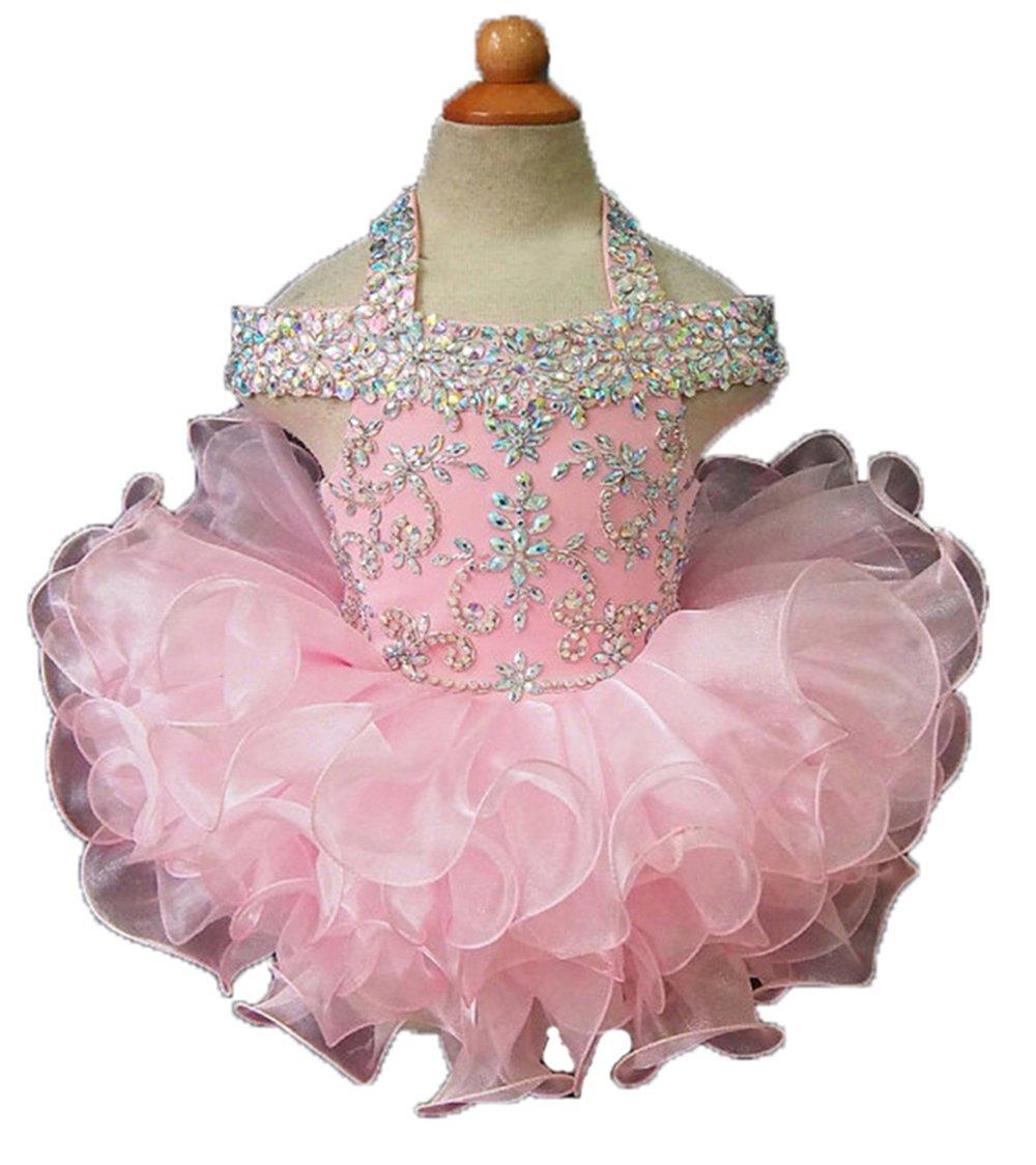 Jenniferwu Infant toddler baby newborn little Girl's Pageant party birthday Dress CGG081 SIZE 3T