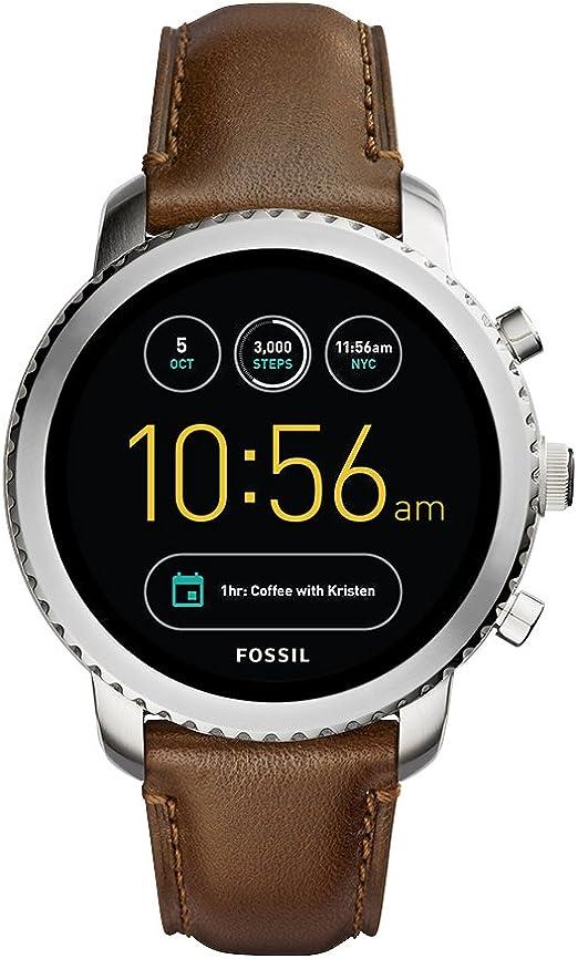 Fossil Reloj Hombre de Digital con Correa en Cuero FTW4003: Amazon ...