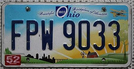 Usa Nummernschild Ohio Kennzeichen Us License Plate Kfz Metallschild Autokennzeichen Auto