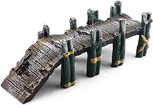 Aqua KT Aquarium Single-Plank Bridge Drawbridge for Fish Tank Landscaping Decoration