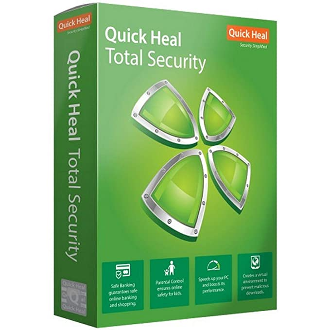 Quick Heal Total Security Latest Version - 1 PC, 1 Year (DVD