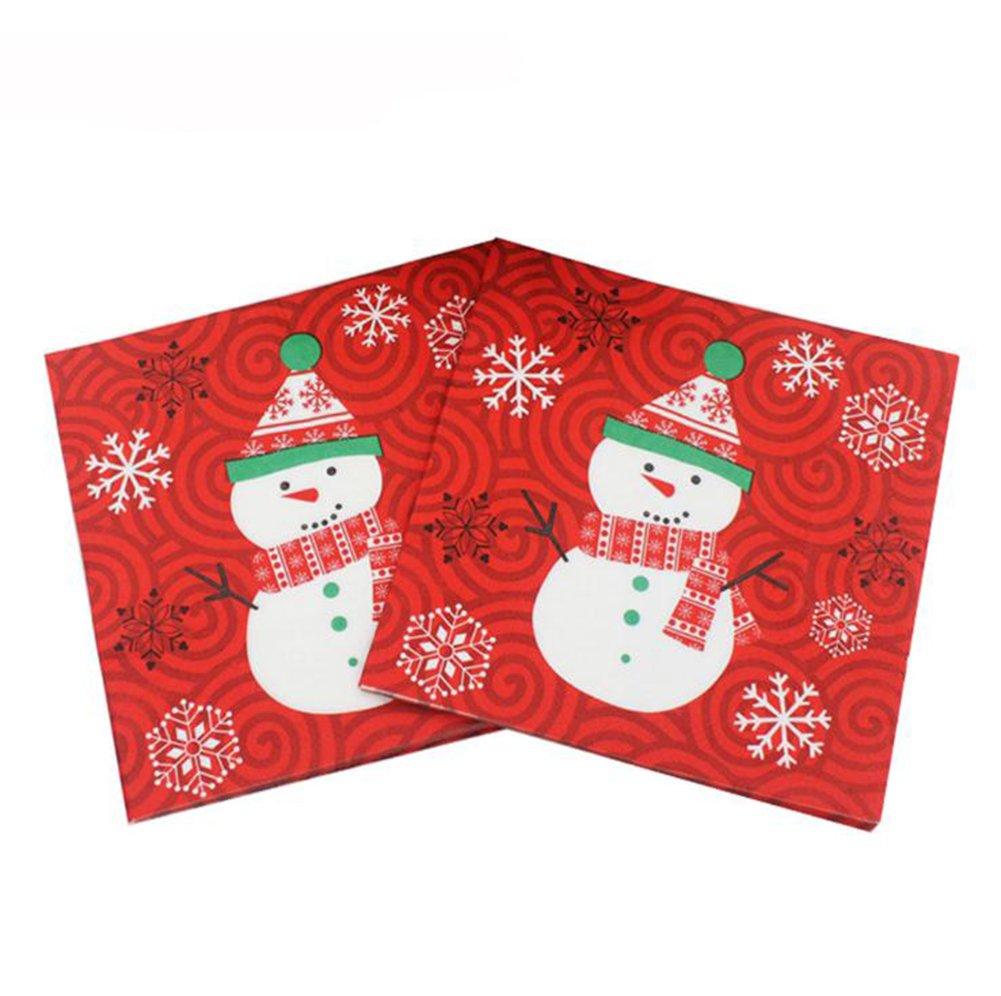 LaatクリスマスDouble Layerペーパーナプキンクリスマスパーティーテーブルdecorationwedding Banquetナプキン紙ナプキンティッシュ B076J9VC7Z