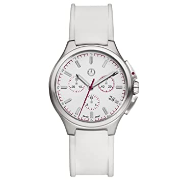 Mercedes-Benz &apos original Mujer Reloj De Pulsera Cronógrafo Sport Fashion Color Blanco/Plum
