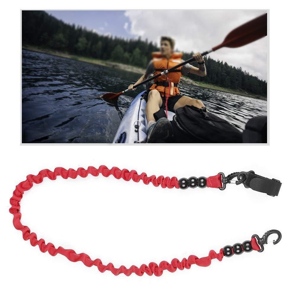 Pagaies /élastiques Kayak Cano/ë S/écurit/é Canne /à p/êche Bateaux /à rames Longe Corde Cravate Corde avec Perles Fabriqu/é avec des Mat/ériaux de Haute Qualit/é Couleur : Rouge