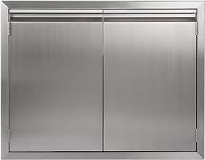 """JIE JIN BBQ Access Door 31"""" W X 24"""" H, 304 Stainless Steel Outdoor Kitchen Accessories Door for Indoor/Outdoor Kitchen, Outdoor Cabinet, BBQ Island"""
