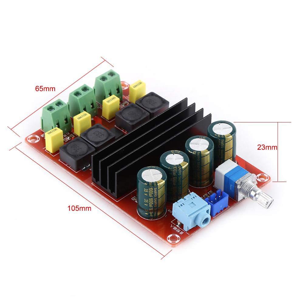 100W de doble canal amplificador digital de audio para est/éreo Akozon DC12-24V Amplificador est/éreo de alta potencia 2