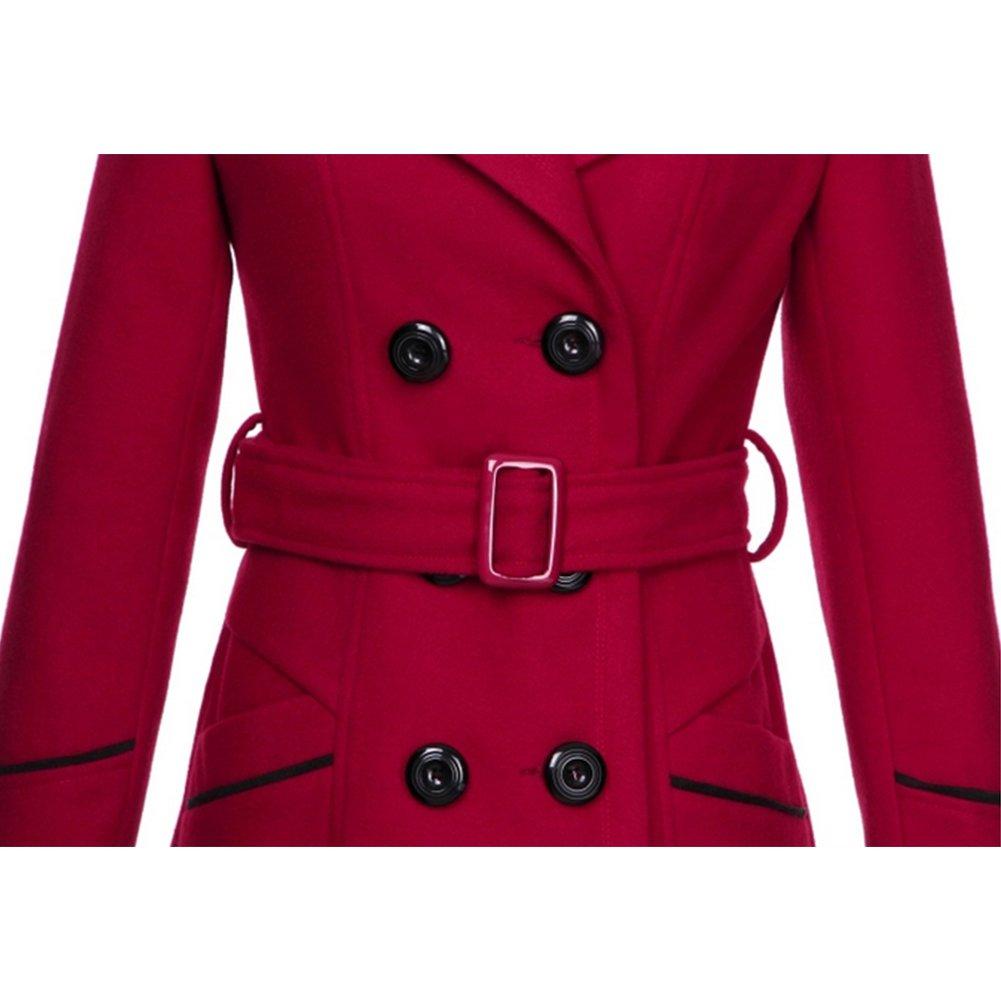Manteaux Femme Hiver Chaud Slim Gilet Bouton /Épais Blouson Casual Parkas Trench Coat Veste /Épaise avec Ceinture