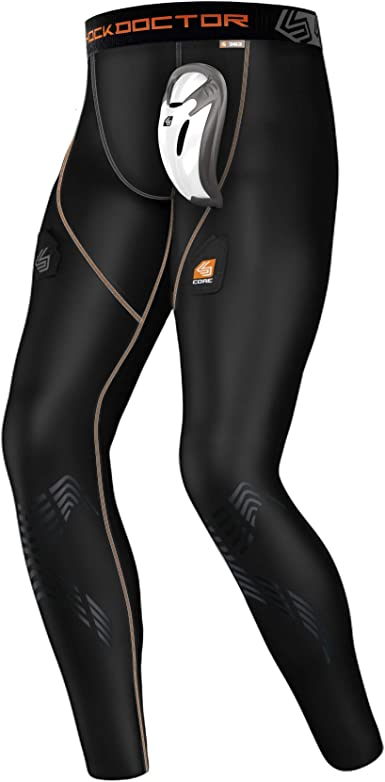 Men/'s Small Compression Shorts With Protective Cup Shock Doctor