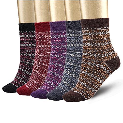 Bemaystar Nordic Wool Woman Socks Winter Socks 5-pack by Bemaystar
