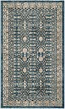 Safavieh Sofia Collection SOF376C Blue and Beige Area Rug (3′ x 5′) For Sale