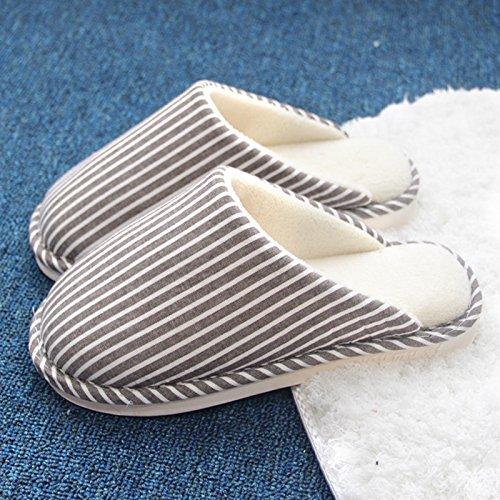 CWAIXXZZ pantofole morbide Soggiorno invernale in acqua calda in pantofole uomini e donne indoor pavimento in legno di spessore grande pacchetto di codice con cotone pantofole ,42-43 (40-41) ,H7 plus