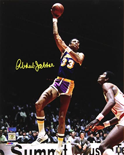 Image Unavailable. Image not available for. Color  Kareem Abdul-Jabbar  Signed Los Angeles Lakers ... 26cfe736f