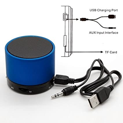 Amazon.com: Soundworx Mini Bocina Portable AZUL con Bluetooth, Reproductor de Audio Inalambrico con Microfono, Radio FM y Entrada de Tarjeta TF para iPhone, ...