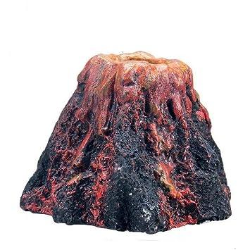 Egurs Acuario Decoración Simulación Forma Volcán Piedra Bomba de oxígeno Adorno del Tanque de Peces Decoración L: Amazon.es: Hogar