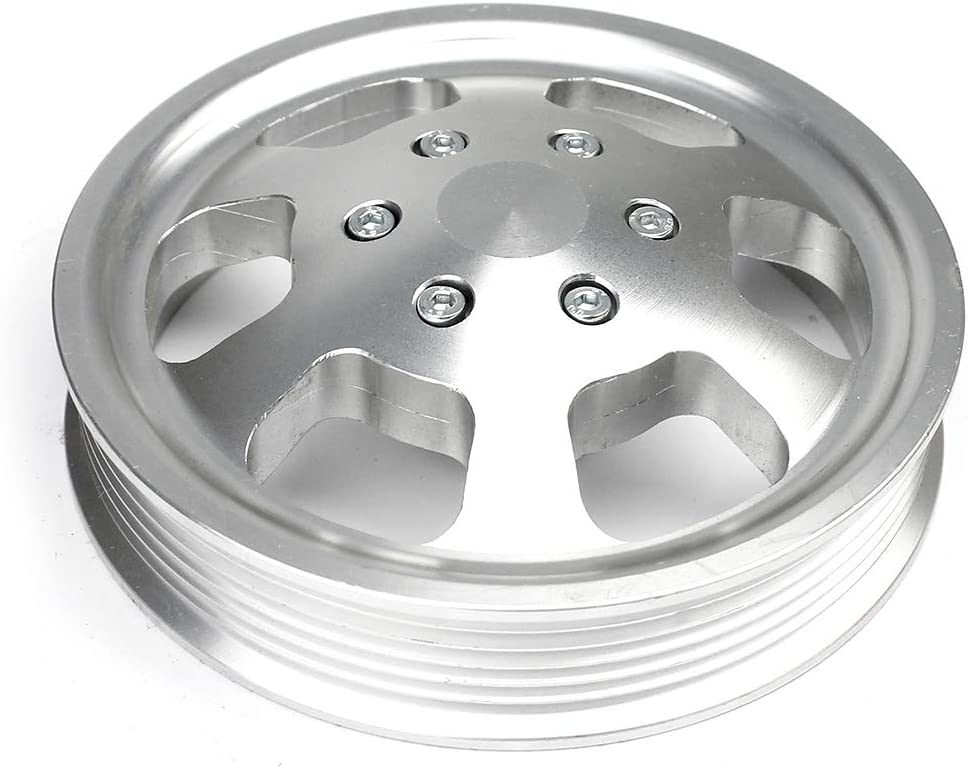 PCE240.1006 compatible with Chevy Gm Aluminum Serpentine Power Steering Pulley