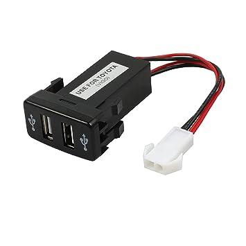 LiNKFOR Coche Cargador Universal 1.2A/2.1A Dual USB Coche Mechero 12V 24V Encendedor Cargador Adaptador Toma Socket Resistente a Calefaccion para ...