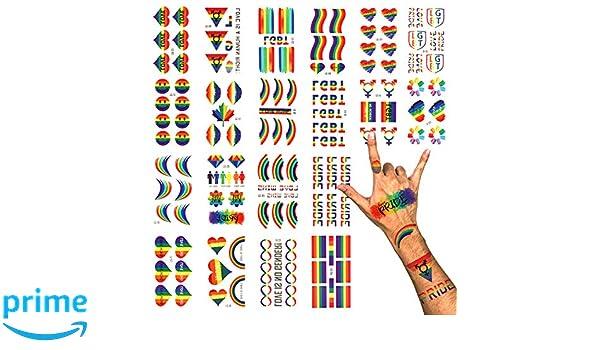 Phogary LGBT Gay Pride Tatuajes temporales (100+ uds, 20 hojas ...