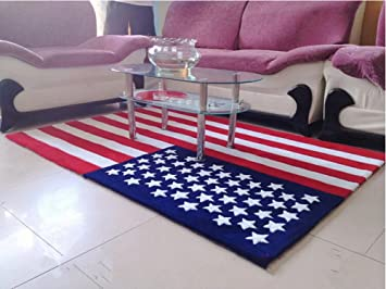 Luk Oil American Flag Rug Stars Stripe Acrylic Mats Non Slip Thickening  Living Room Carpet