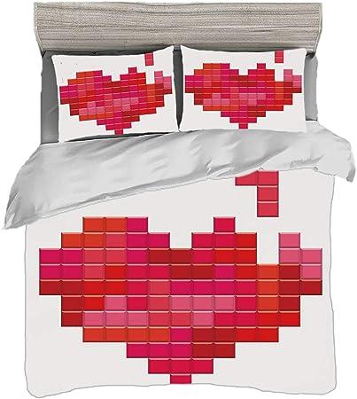 Copripiumino San Valentino.Set Copripiumino 240 X 260 Cm Con 2 Federe San Valentino
