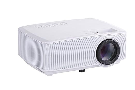 ZYWX Portátil 3D HD 1200 Lúmenes LED Mini 1080P Proyector para ...