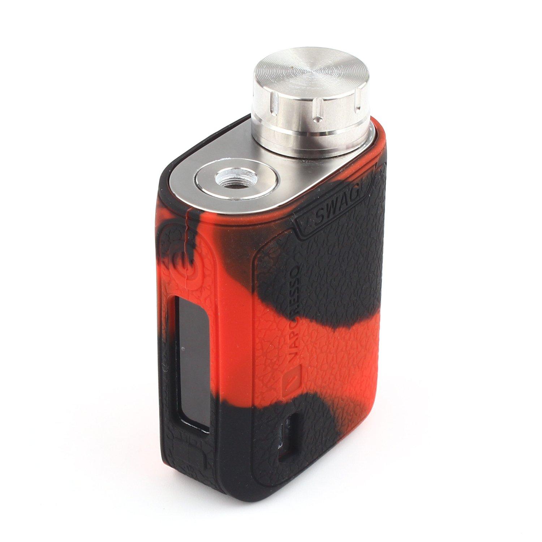 CEOKS para Vaporesso SWAG Kit 80W TC protector de silicona caso de protección Vaporesso SWAG 80W TC mod box piel caso cubrir abrigo de la manga Azul ...